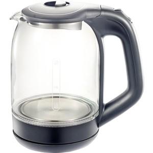 Чайник электрический Добрыня DO-1238G серый фен расческа добрыня do 2011