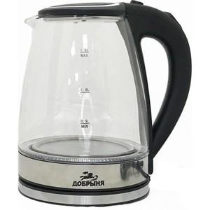 Чайник электрический Добрыня DO-1239 черный