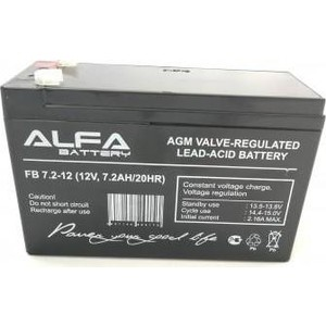 Аккумулятор Alfa Battery 12V 7.2 Ah AB-12-7.2