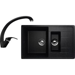 Кухонная мойка и смеситель EcoStone ES-22 черная (ES-22-308, ES-02-308) фото
