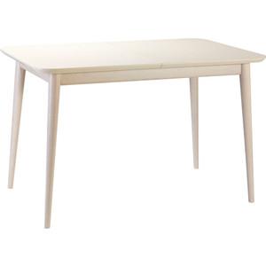 Стол обеденный R-home Сканди жемчужно-белый 120/160x80