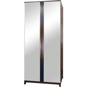 Шкаф 2-дверный R-home Сканди сапфир с зеркалами