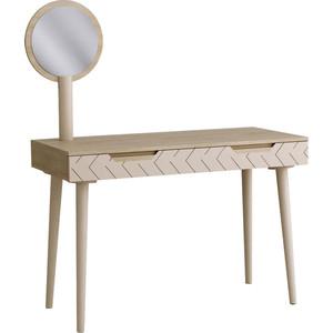Зеркало R-home Для стола туалетного Сканди жемчужно-белый фото