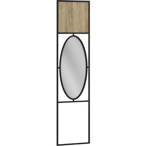 Панель R-home Loft дуб натуральный с зеркалом для прихожей