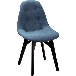 Стул R-home Eames Сканди блю арт /L (Э15 массив венге) фото
