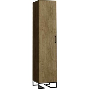 Шкаф 1-дверный R-home Loft дуб табак для прихожей тумбы для прихожей