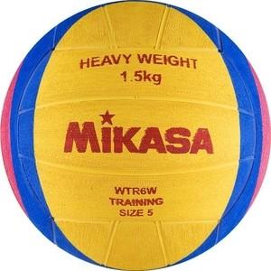 Мяч для водного поло Mikasa WTR6W (длина. окр. мяча 68-71 см), вес 1500 г, жел-син-роз мяч для водного поло mikasa w6609c жен размер