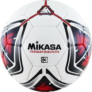 Мяч футбольный Mikasa REGATEADOR3-R, р.3, бело-черно-красный футбольный мяч mikasa f571md tr o р 5