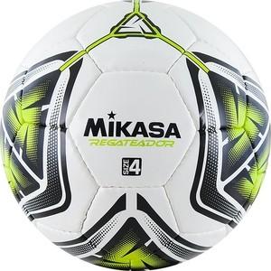 Мяч футбольный Mikasa REGATEADOR4-G, р.4, бело-черно-зеленый футбольный мяч mikasa f571md tr o р 5