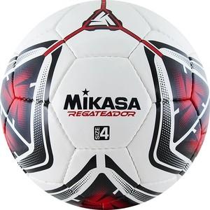 Мяч футбольный Mikasa REGATEADOR4-R, р.4, бело-черно-красный футбольный мяч mikasa f571md tr o р 5