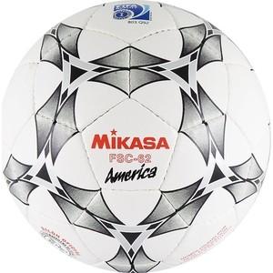 Мяч футзальный Mikasa FSC-62 America, р.4,белый-серый-красный