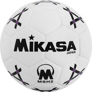 Мяч гандбольный Mikasa MSH 2, синт.кожа, р.2, бело-черно-фиолетовый