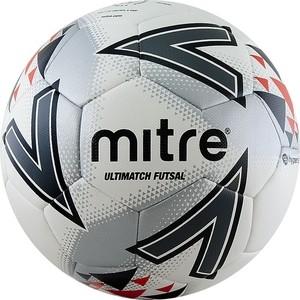 Мяч футзальный Mitre Futsal Ultimatch IMS HyperSeam A0027WG7, р.4, бело-серо-красно-черный.