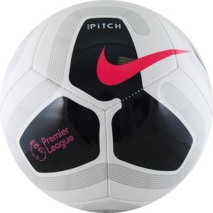 Мяч футбольный Nike Pitch PL SC3569-100, р. 4, бело-черно-розовый