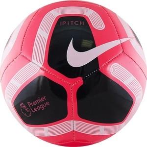 Мяч футбольный Nike Pitch PL SC3569-620, р.5, розово-черно-белый