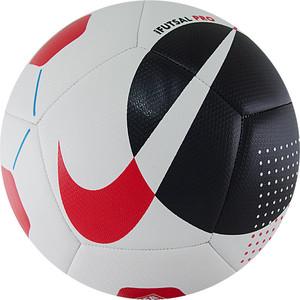 Мяч футзальный Nike Pro SC3971-102, р. (4), FIFA Quality Pro, 12 панелей, матовая синт.кожа (ТПУ), бело-черно-красный