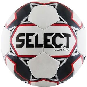 Мяч футбольный Select Contra 812310-103, р.4, бело-черно-красный мяч для футзала select super league амфр 850718 172 р 4 2019 официальный мяч амфр