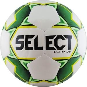Мяч футбольный Select ULTRA DB 810218-004, р.5, бело-зел-желто-черный