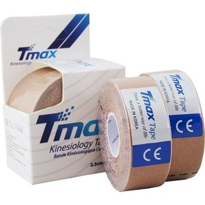 Тейп кинезиологический Tmax Extra Sticky Biege (2,5 см x 5 м), уп. 2 шт, 423815, телесный