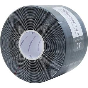 Тейп кинезиологический Tmax Extra Sticky Black (5 см x 5 м), 423143, черный