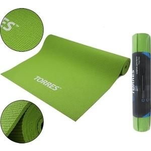 Коврик для йоги Torres Optima 6, PVC 6 мм, зеленый