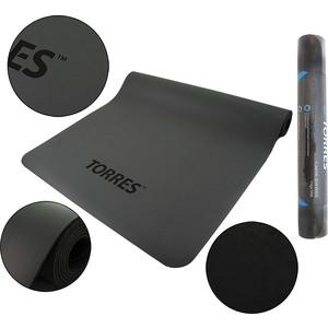 Коврик для йоги Torres Pro, PU/Rubber 3 мм, серый