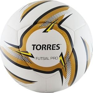 Мяч футзальный Torres Futsal Pro, F31924, р.4, белый-золотой-черный