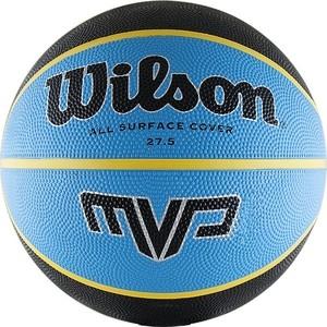 Мяч баскетбольный Wilson MVP Traditional, р.5, сине-черно-желтый