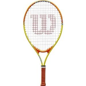 Ракетка для большого тенниса Wilson SLAM 23, WRT20390U, для 7-8 лет, желто-оранжевая цена
