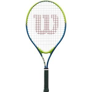 Ракетка для большого тенниса Wilson SLAM 25, WRT20400U, для 7-8 лет, салатово-синяя ракетка для большого тенниса babolat b fly 23 gr000 140244 детская 7 9 лет фиолет бирюзовый