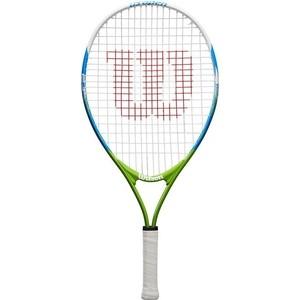 Ракетка для большого тенниса Wilson US OPEN 23, WRT20320U, 7-8 лет, бело-сине-зеленый