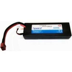 Аккумулятор Spard Li-Po 6000mAh, 7,4V, 30C, T-plug для Remo Hobby и Himoto 1 10, 8 - YT1044121PP