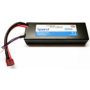 Аккумулятор Spard Li-Po 7.4V 8000mAh, 25C, T-plug для Remo Hobby и Himoto 1 10, 8 - YT1143125PPP
