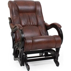 Кресло-качалка глайдер Мебель Импэкс Модель 78 люкс венге/ antik crocodile
