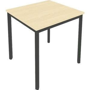 цена на Стол письменный на металлокаркасе Riva Slim С.СП-2 клен/антрацит металл 78x72x75 комплект