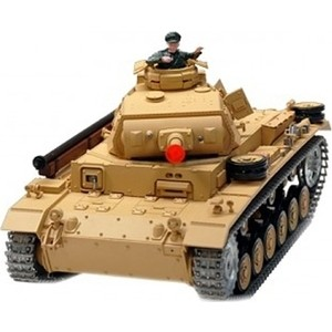 Радиоуправляемый танк Heng Long Tauch Panzer III Ausf H масштаб 1:16 2.4G - 3849-1 V5.3