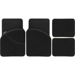 Коврики салона Michelin универсальные, 4 шт., текстильные, черные