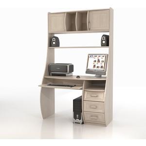 Стол компьютерный ТД Ная Прямой КС-1К Беркут дуб беленый