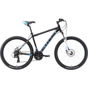 Велосипед Stark 19 Indy 26.2 D чёрный/голубой/белый 18 цена
