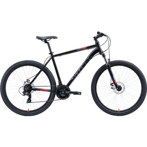 Велосипед Stark Hunter 27.2 D (2020) чёрный/серый/красный 20