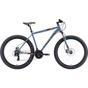 Велосипед Stark Hunter 27.2+ HD (2020) серый/чёрный/оранжевый 18