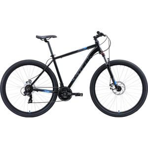Велосипед Stark Hunter 29.2 D (2020) чёрный/серый/голубой 22