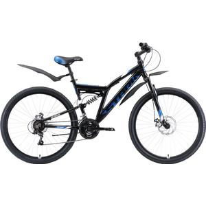 Велосипед Stark Jumper 27.1 FS D (2020) чёрный/голубой/белый 20