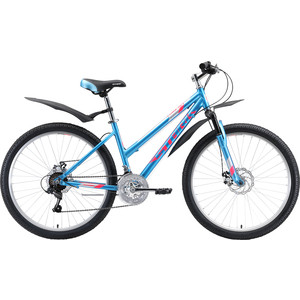 Велосипед Stark Luna 26.1 D (2020) голубой/розовый/серебристый 14,5