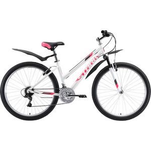 Велосипед Stark Luna 26.1 V (2020) белый/розовый/серый 18