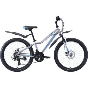 Велосипед Stark Rocket 24.2 D серебристый/голубой/серый