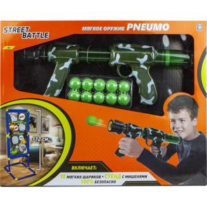 Игрушечное оружие 1Toy Street Battle с мягкими шариками 10 шариков Т16681