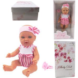 Кукла 1Toy Baby Doll в полосатом боди 28см Т14112