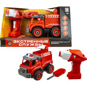 Машинка на радиоуправлении 1Toy Экстренные службы пожарный грузовик радиуправлении Т16963