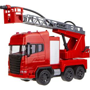 Машинка на радиоуправлении 1Toy Экстренные службы пожарная свет пускает водяную струю 45 см Т17670